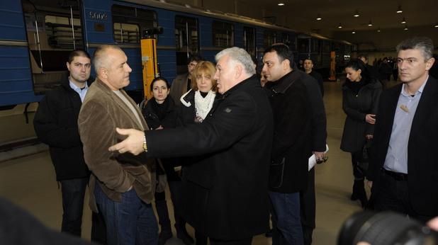 Стоян Братоев показва метрото на Бойко Борисов и Йорданка Фандъкова