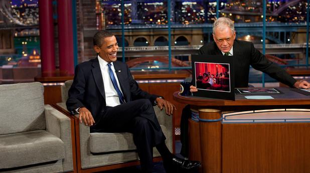 Барак Обама в шоуто на Дейвид Летерман, 2009 г.