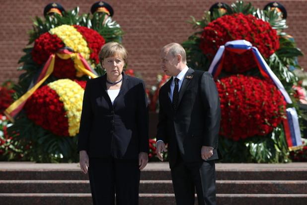 ангела меркел, владимир путин, деня на победата, 10 май