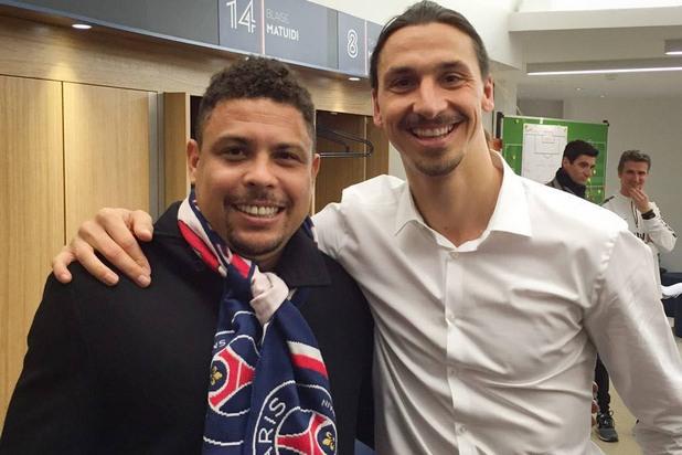 Златан с идол Роналдо