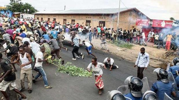бурунди, протест, полиция, преврат