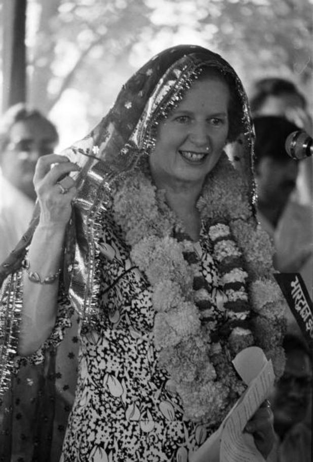маргарет тачър на посещение в индия, 1981
