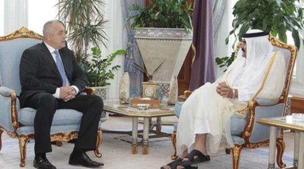 Негово Превъзходителство баща-шейх на Катар Хамад бин Халифа Ал Тани и Бойко Борисов