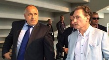 "бойко борисов и кирил домусчиев на ""лудогорец арена"""