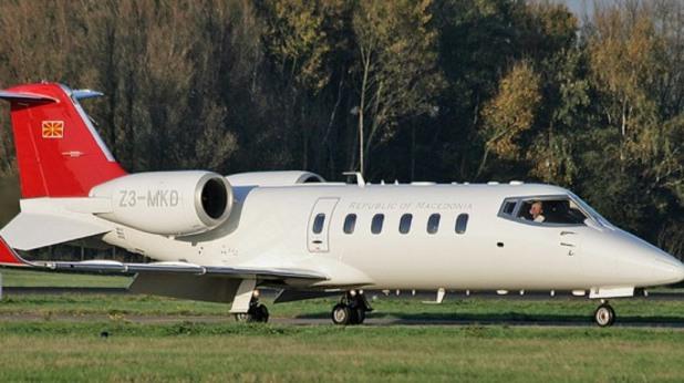 правителственият самолет на македония