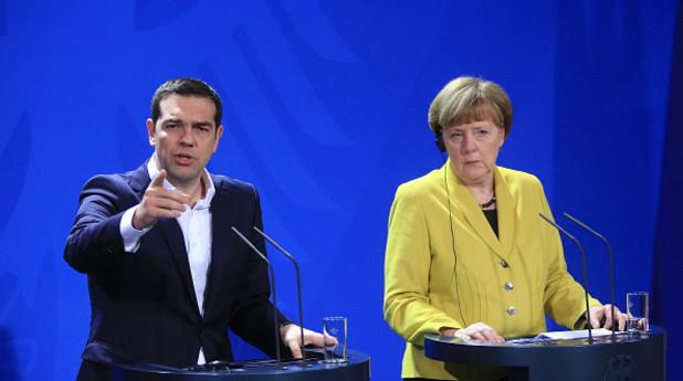 Алексис Ципрас и Ангела Меркел