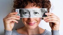 възраст, възрастна жена, жена, очи