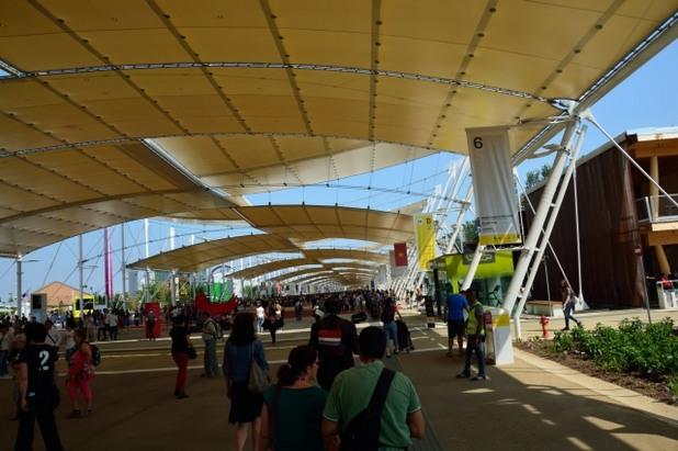Експо 2015: Държавите са представени по края на основната улица Декумано, изградена по специален начин, за да бъде по-прохладна и да пази от вятър и дъжд