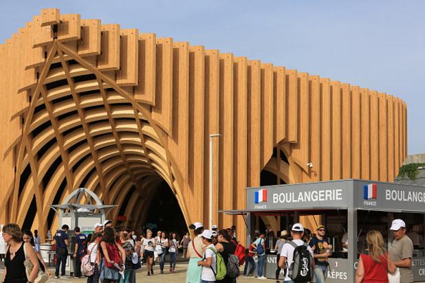 павилионът на франция на експо 2015