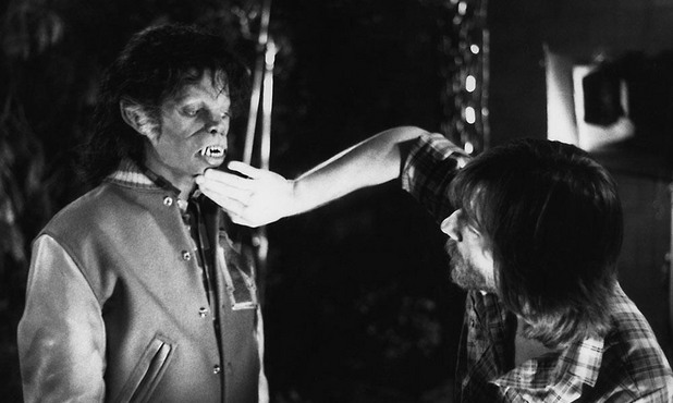 Майкъл Джексън, гримиран от Рик Бейкър за Thriller
