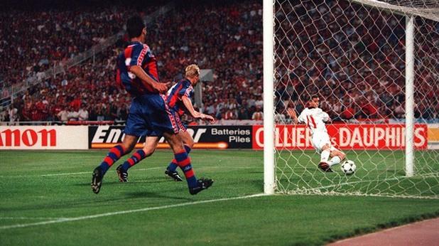 финал ШЛ: Милан - Барселона 4:0 1994 г. Даниеле Масаро първи гол