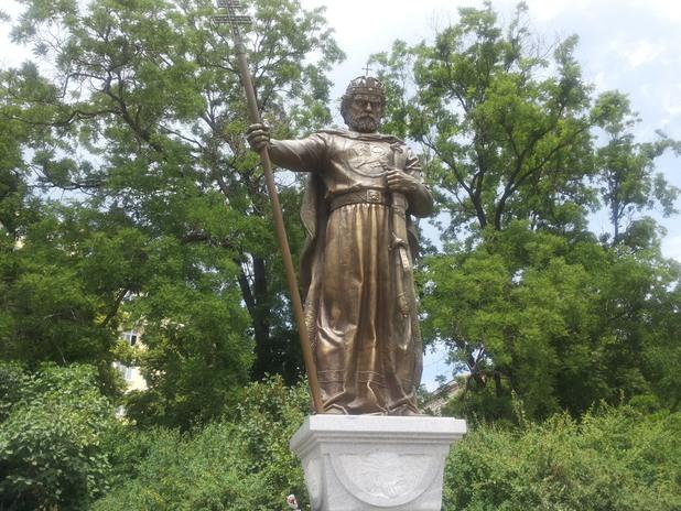 """паметникът на цар самуил до """"света софия"""""""