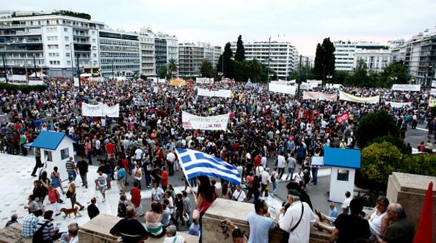 Протест в подкрепа на Алексис Ципрас