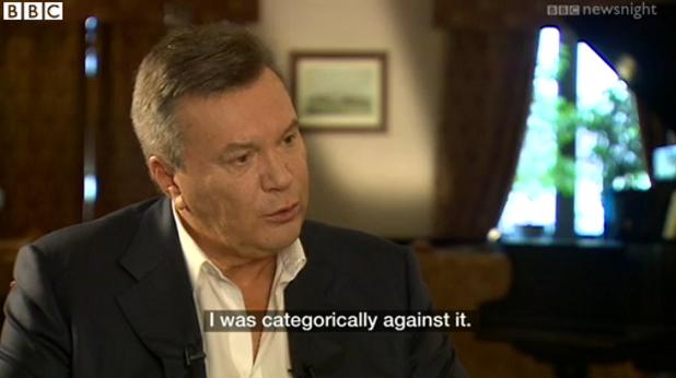 виктор янукович пред bbc newsnight