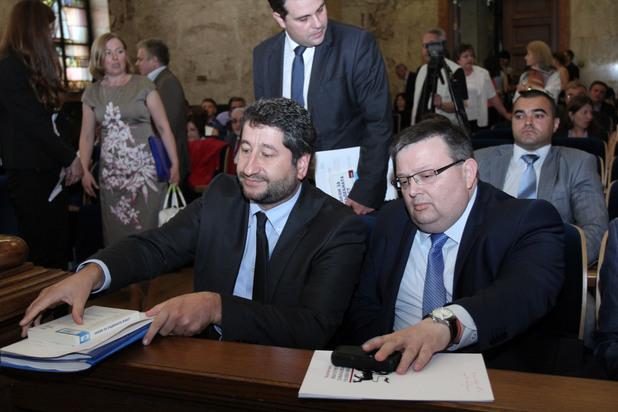 министърът на правосъдието христо иванов и главният прокурор сотир цацаров