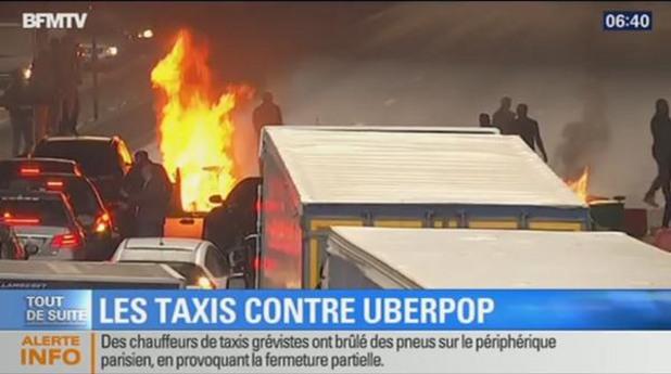 стачка на таксиметровите шофьори в париж