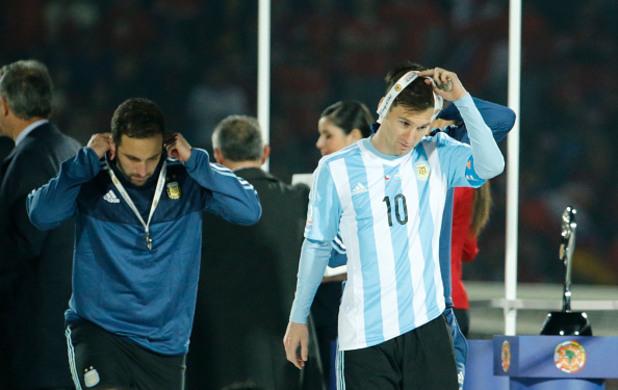 Меси и Игуаин финал Копа Америка 2015 г.