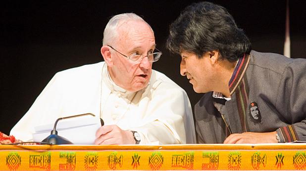 папа, франциск, ево моралес, боливия