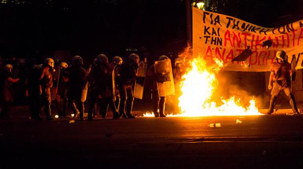 гърция, протест, атина