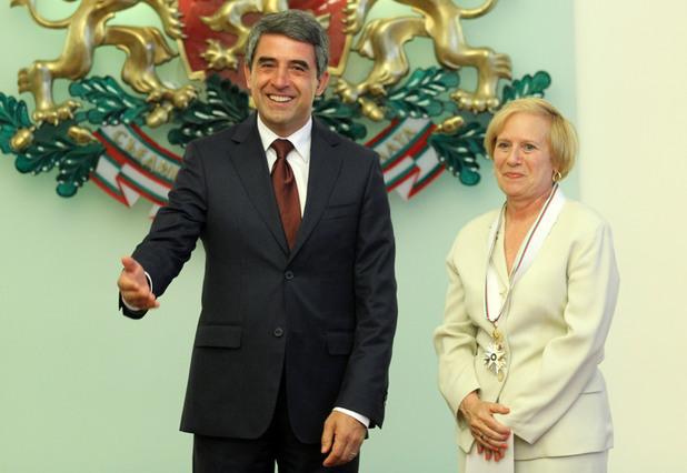 Росен Плевнелиев и Марси Рийс