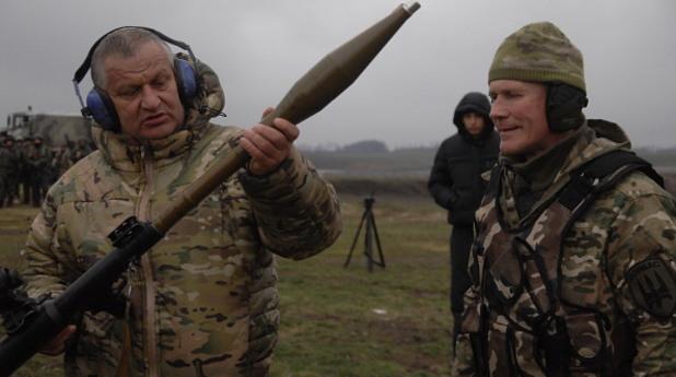 """Тренировка на доброволческия отряд """"Донбас"""""""