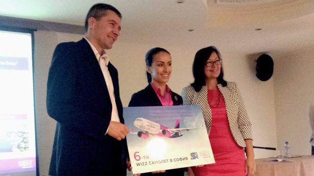 Wizz air представят новите пет дестинации и шестия самолет в София