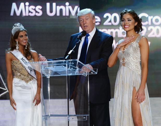 Доналд Тръмп на Мис Юнивърс 2013