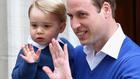 принц уилям със сина си джордж