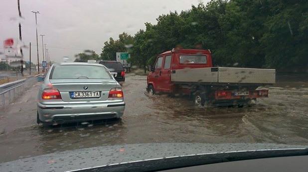 Цариградско шосе под вода