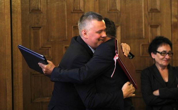 министрите на отбраната на българия и полша николай ненчев и томаш шемоняк подписват споразумение за военно сътрудничество