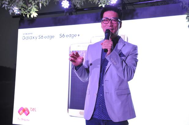 Крис Чънк показва новия Samsung Galaxy S6 Edge + на събитието на Mtel