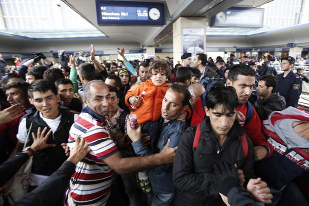 бежанците на гарата във виена