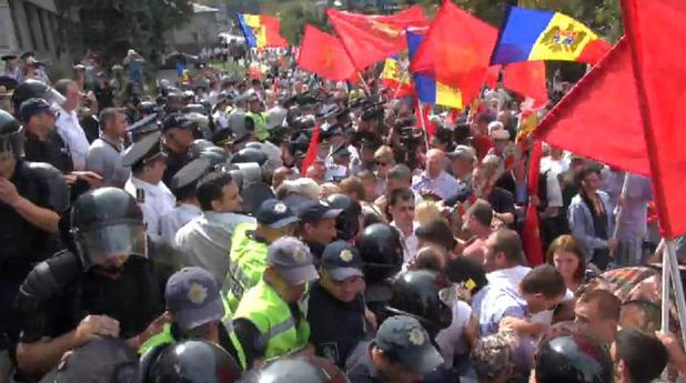 молдова, протест
