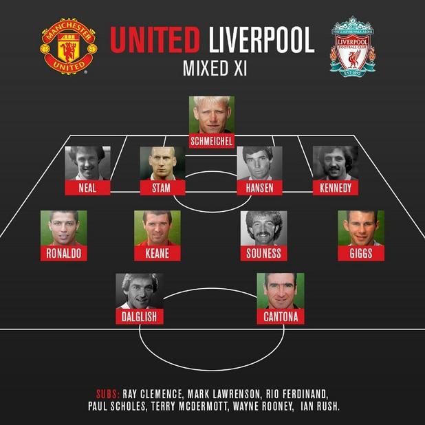Юнайтед+Ливърпул - идеални 11