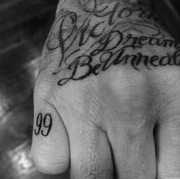дейвид бекъм, татуировки