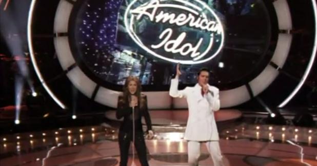 селин дион и елвис в american idol