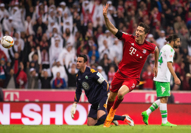 Байерн Мюнхен - Волфсбург 5:1, 5 гола на Лева
