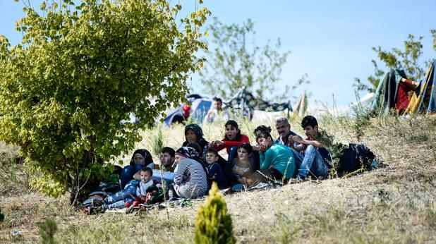 Бежанци на турската граница
