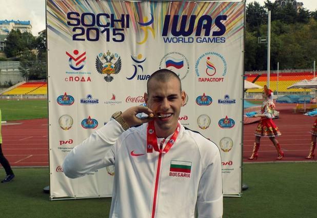 Михаил Христов печели златен медал на дълъг скок от Световното първенство в Сочи 2015