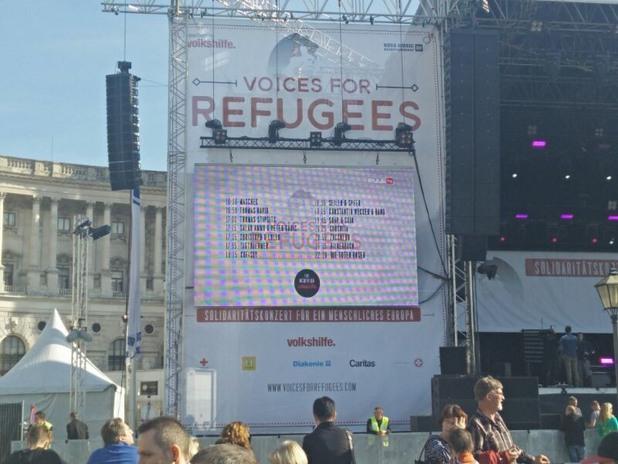Концерт за бежанците, Виена