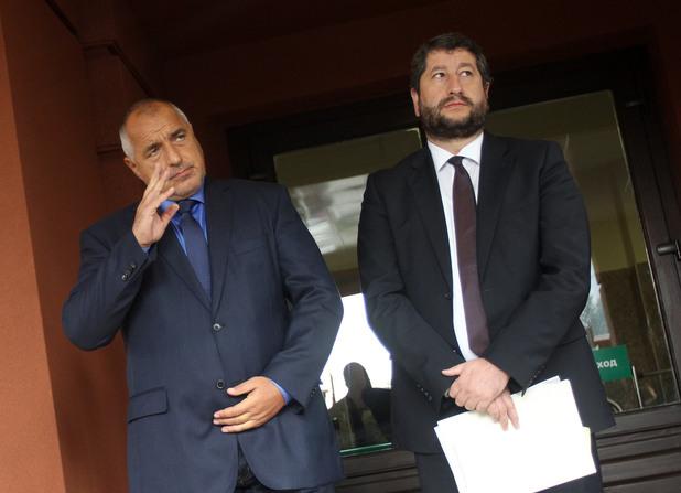 премиерът бойко борисов и министърът на правосъдието христо иванов