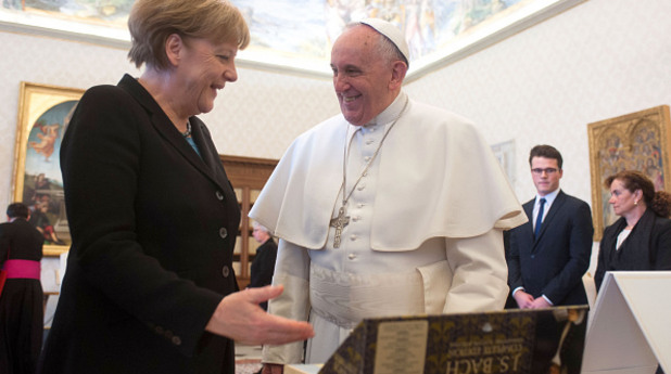 папа, франциск, ангела меркел