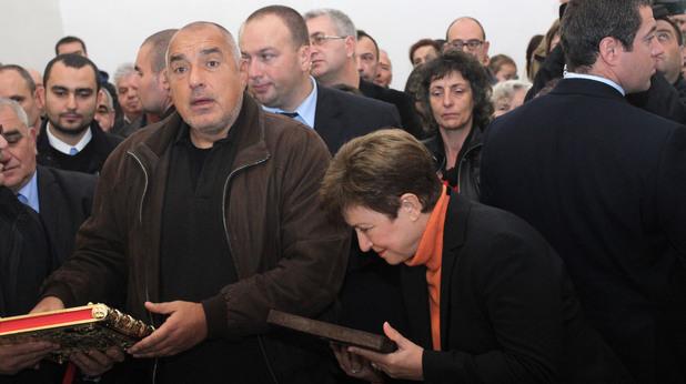 Бойко Борисов и Кристалина Георгиева на откриването на храм във Владая