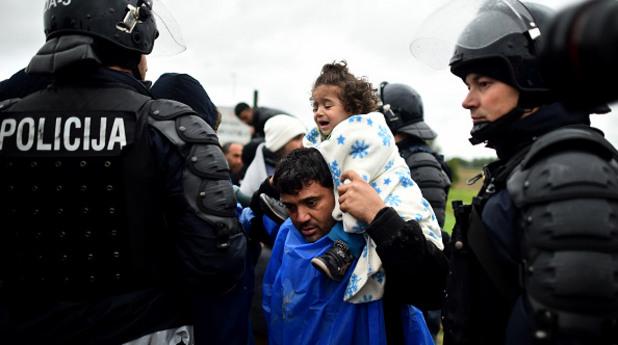 словения, граница, полиция, имигранти, бежанци