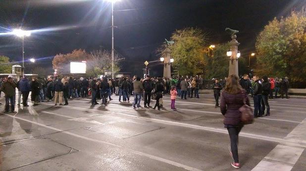 Полицаи протестират на Орлов мост