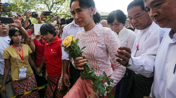 Аун Сан Су Чжи, мианма, мианмар
