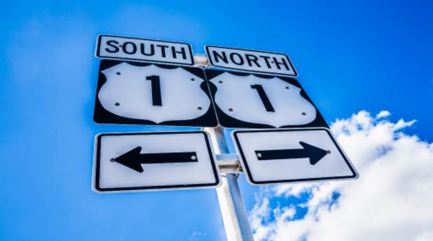 север, юг