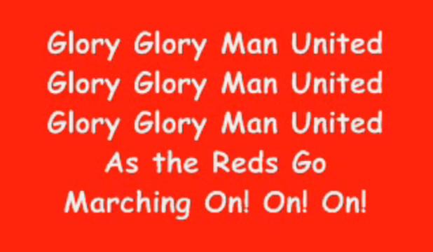 glory glory man united, песен, манчестър юнайтед