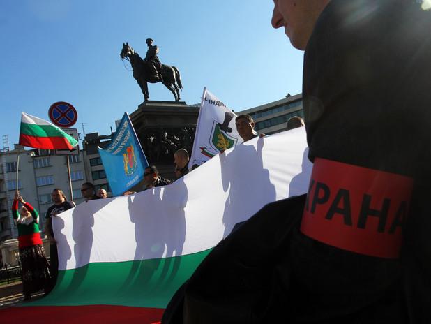 Протест на полицаите пред Народното събрание