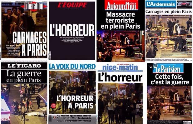 пресата във франция след терористичните актове в париж